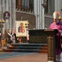 Msza w katedrze kolonskiej pod przewodnictwem ks. bp Józefa Kupnego  08.03.2015