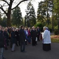 01.11.2017 - Procesja we Wszystkich Świętych na cmentarzu Westfriedhof.