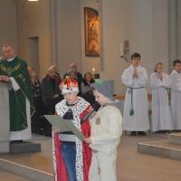 29.01.2017 - Msza św. z przedstawieniem Bożonarodzeniowym przy żłóbku.