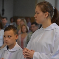 22.09.2019 - Wprowadzenie w posługę nowych ministrantów.